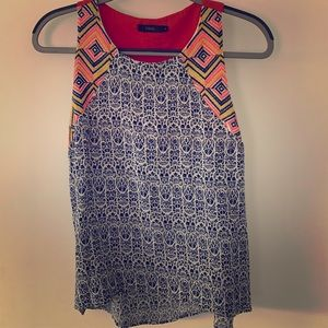 Colorful THML tank with embroidery